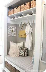 turning a coat closet into mudroom like nook hooked on houses