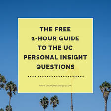 the hour guide to the uc personal insight questions  the 1 hour guide to the uc personal insight questions