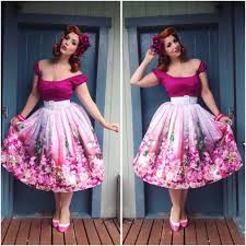 Malco Modes Color Chart Miss Victory Violet Top And Belt Pinup Girl Clothing Skirt