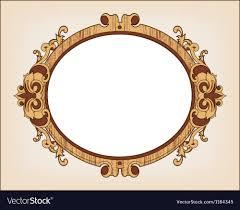 vintage frame design oval. Decorative Oval Vintage Frame Vector Image Design S