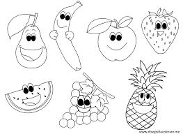 Nuovo Disegni Da Colorare Frutta Estiva Migliori Pagine Da