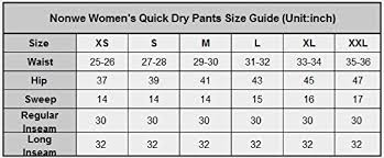 Nonwe Womens Outdoor Cargo Pants Classic Water Resistant Quick Drying Lightweight