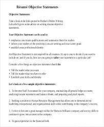 Resume Objective For Any Job General Objectives For A Resumes