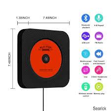 portable cd player searick bluetooth wall mountable