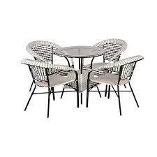 plastic outdoor patio furniture 4 chair