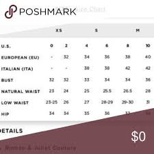 Liz Claiborne Size Chart Romeo And Juliet Couture Size Chart