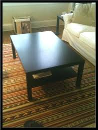 lack coffee table black brown s round full size