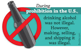 Image result for the prohibition of alcohol