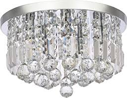 <b>Modern K9</b> Crystal Chandelier Lighting, A1A9 Round Flush Mount ...