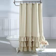 linen shower curtain vintage ruffle linen shower curtain hookless fabric shower curtain extra long