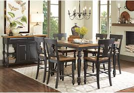 Hillside Cottage Black 5 Pc Counter Height Dining Room Traditional