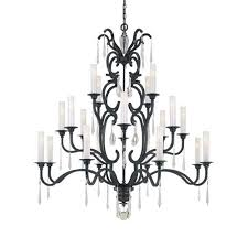 metropolitan lighting castellina aged iron twenty light three tier chandelier