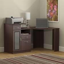 um wood finish corner computer desk with printer shelf inside computer desk with printer shelf customizing