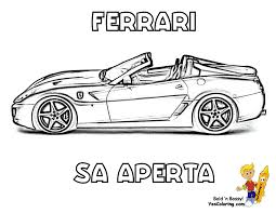 Workhorse Ferrari Coloring Pages Ferrari Free Car Printables