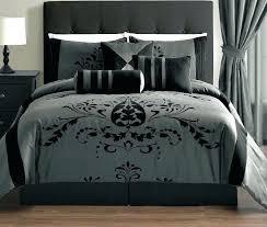 black and gray bedding image of dark grey comforter set queen green modern best modern comforter