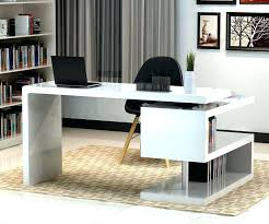 Unique home office desks Trendy Office Home Office Furniture Chicago Stunning Modern Home Office Desks With Unique White Glossy Desk Plus Open Bookshelf With Black Chair And Chic Rug Home Office Thesynergistsorg Home Office Furniture Chicago Stunning Modern Home Office Desks With