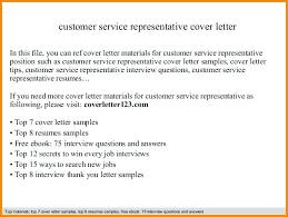 Customer Service Representative Cover Letter Customer Service