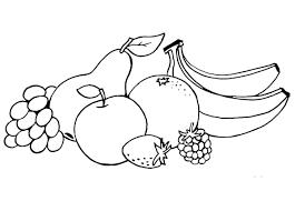 Tranh tô màu hoa quả, trái cây đơn giản, đẹp nhất dành cho các bé