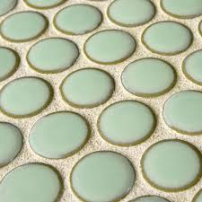 SomerTile 12x12.625-inch Penny Light Green Porcelain Mosaic Floor and Wall  Tile (10/Case, 10.2 sqft.) - Free Shipping On Orders Over $45 -  Overstock.com - ...