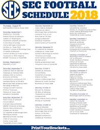 printable sec conference football schedule