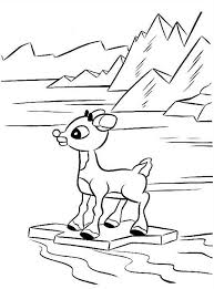 Small Picture Rudolph the Reindeer Standing on Rock Coloring Page Color Luna