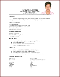 Sample Resume For Philippine Government Jobs Unique Sample Ng