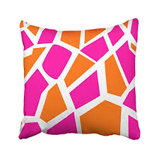 Funky throw pillows Farmhouse Pakaku Throw Pillows Covers For Couchbed 16 16 Inchfunky Hot Pink Orange Modern Geometric Patch Splicing Home Sofa Cushion Cover Pillowcase Gift Wantitall Pakaku Throw Pillows Covers For Couchbed 16 16 Inchfunky Hot