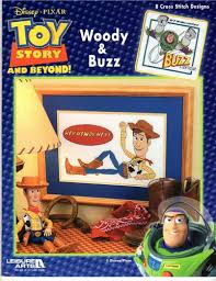Leisure Arts Disney Pixar Toy Story Woody Buzz Cross