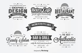 typography templates 15 free vintage logo template collections