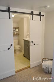 interior diy double barn door tutorial h20bungalow regarding impressive bathroom barn doors decorations