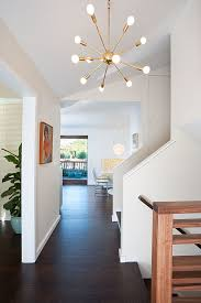 baseboard lighting. sputnik light entry midcentury with art banister baseboard ceiling lighting foyer hallway