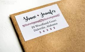Printed Return Address Label Rustic Address Labels Couple Address Labels Formal Labels