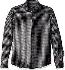Stone Rose <b>Mens Cotton Knit</b> Geometric Print Long Sleeve <b>Shirt</b> ...