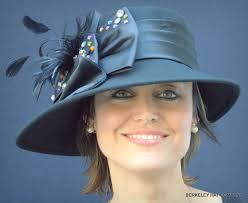 Felt Women S Dress Hat With Multicolored Stones