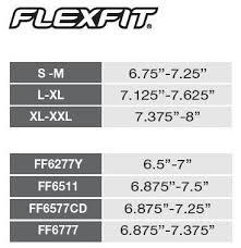 Flexfit Size Chart Ff6210 Flexfit Flat Bill Cap