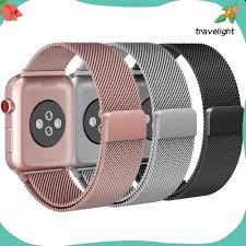 Dây Đeo Inox Có Khóa Cho Đồng Hồ Thông Minh Apple Watch Series 1 / 2 / 3 K3  chính hãng
