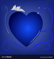 blue heart background. Interesting Blue Blue Heart Background Vector Image Throughout Heart Background