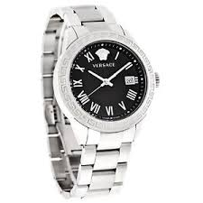 versace landmark mens black dial swiss quartz watch p6q99gd008 image is loading versace landmark mens black dial swiss quartz watch