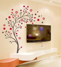 Small Picture Buy WallTola PVC Vinyl Beautiful Magic Tree with Flowers Wall