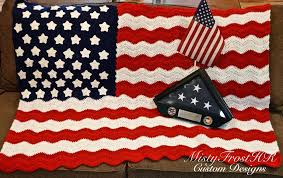 American Flag Crochet Pattern Enchanting American Flag Crochet Throw MistyFrostHR