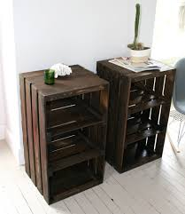 wood crate furniture diy. wood crate handmade table furniture nightstand by camillemdesigns diy s