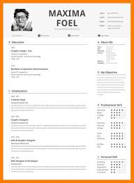 Example Of One Page Resume Examples Of Resumes
