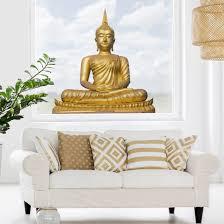 Fensterfolie Fenstersticker Goldener Buddha