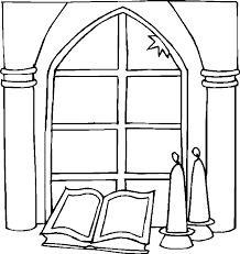 Small Picture Window Coloring Pages Stained Glass Windows From Wedding Chapel