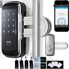 smart front door locksChina Smart Glass Door Lock with Bluetooth 40 for Samsung on