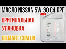 Оригинальное <b>моторное масло Nissan</b> 5w-30