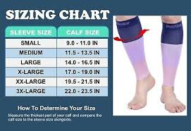 Doc Miller Size Chart Doc Miller Calf Compression Sleeve 1 Pair 15 20 Mmhg