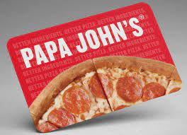 tarjetas de regalo de papa john s