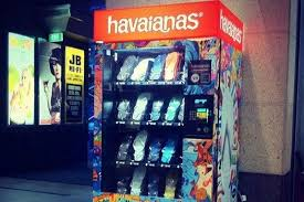 Havaianas Vending Machine Locations Best FlipFlop Vending Machine Features Sizing Chart On The Ground