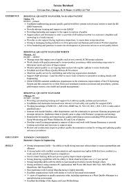 Quality Manager Resume Regional Quality Manager Resume Samples Velvet Jobs 20